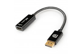 Adapter wtyk DisplayPort - gniazdo HDMI 4K Kabel w Oplocie SPD-H03