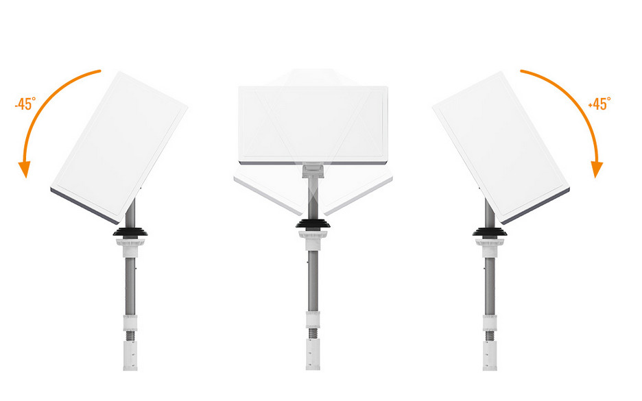 Antena campingowa płaska - zakres regulacji