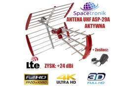 Antena TV UHF Spacetronik ASP-29A Active Red +24dB