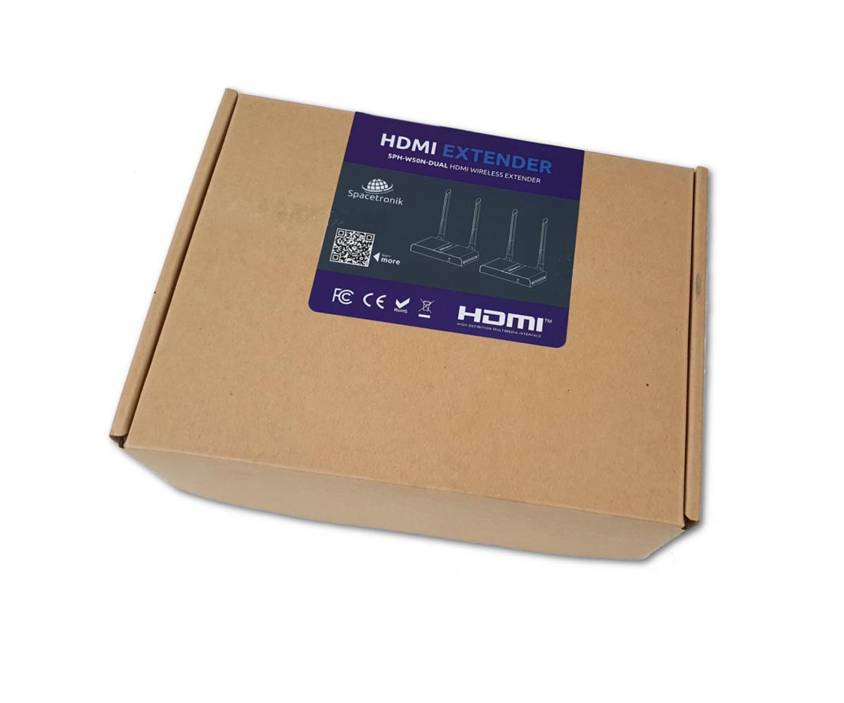 Bezp.transmiter HDMI Spacetronik SPH-W50N-Dual