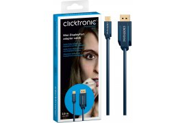 CLICKTRONIC Kabel Display Port DP - Mini Display Port 1m
