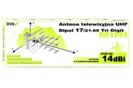 Dipol 17/21-69 Tri-Digit UHF mini