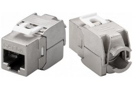 Gniazdo RJ45 Keystone CAT 6A STP shielded