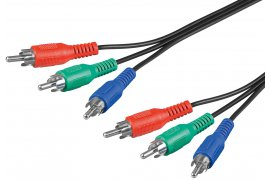Kabel 3RCA-3RCA Component YUV 2m