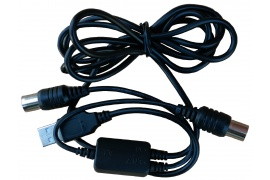 Kabel IEC Gn./Wt. TV z USB do zasilania anten 5V