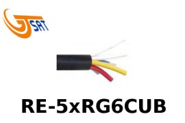 Kabel Koncentryczny 5 in 1 GT-SAT 1.13CU 120dB RE-5xRG6CUB 1m