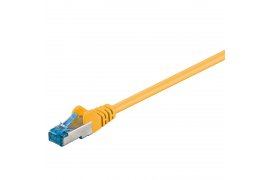 Kabel LAN Patch Cord CAT 6A S/FTP ŻÓŁTY 0,25m