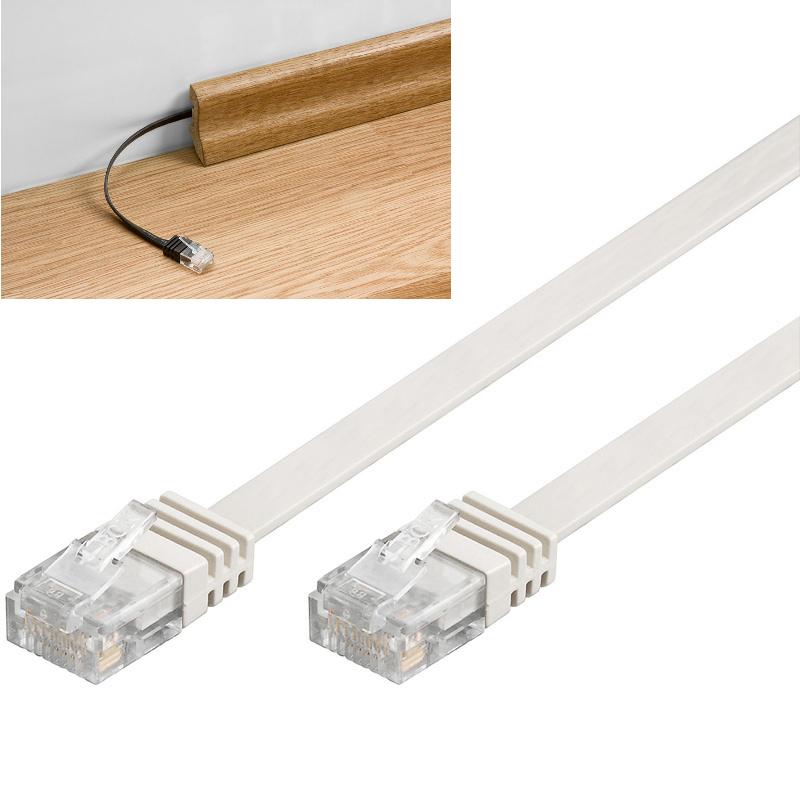 kabel lan patch cord cat 5e u utp p aski bia y 0 5m internetowy sklep tv sat. Black Bedroom Furniture Sets. Home Design Ideas