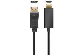 Kabel pozłacany Display Port DP - HDMI 3m