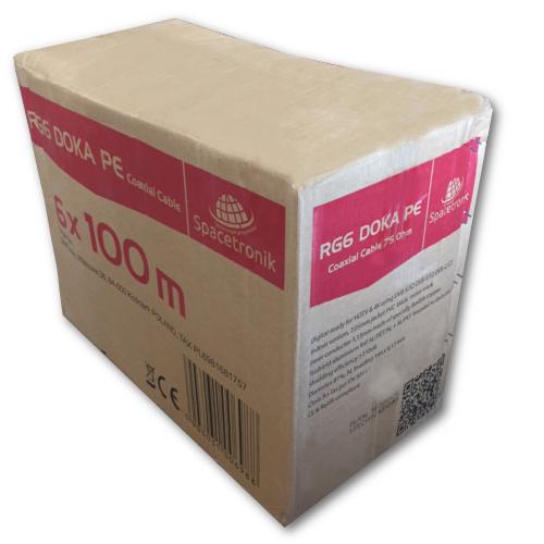 Kabel RG6 DOKA karton zbiorczy 6x100