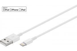 Kabel USB 2.0 - Apple lightning plug (8-pin) 1m