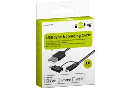 Kabel USB - micro USB + adapter Apple Lightning Goobay 1m