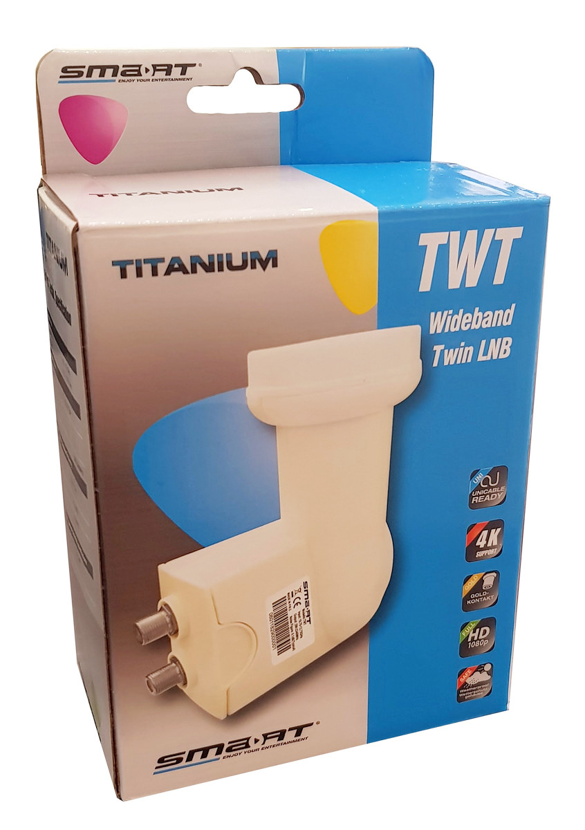 LNB Konwerter Wide Band SMART Titanium TWT H+V