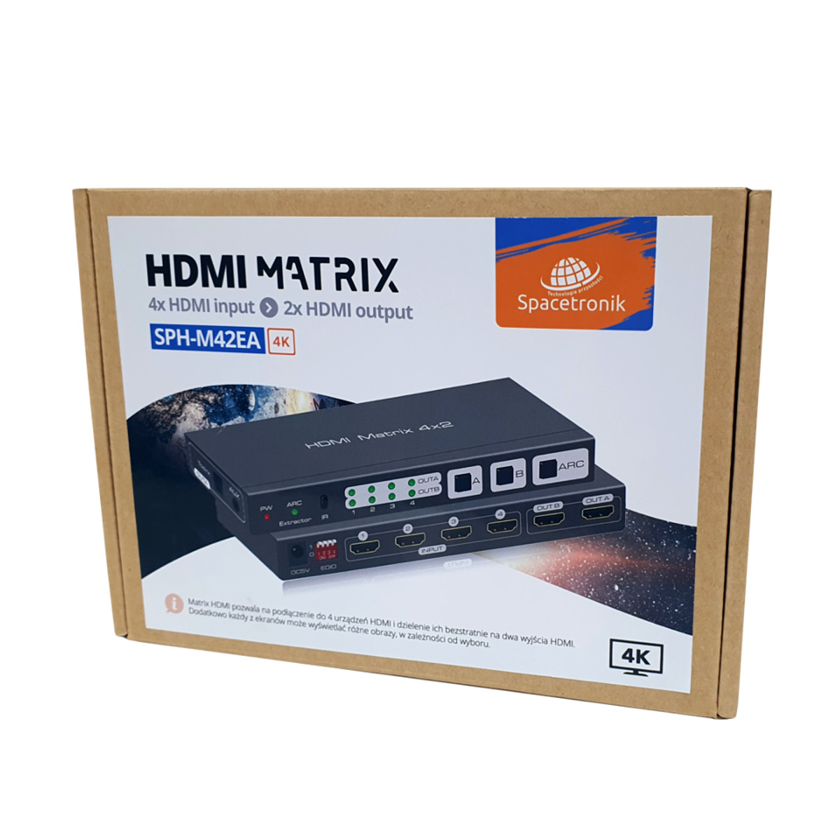 Matrix HDMI 4/2 Spacetronik SPH-M42EA 4K