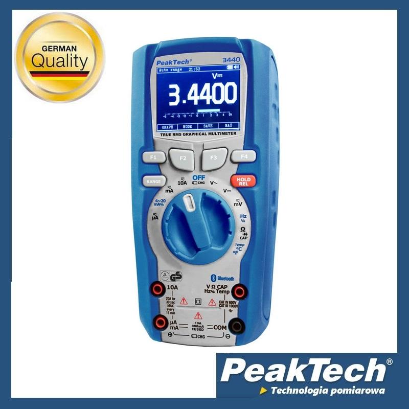 Multimetry Graficzne Z Kolorowym LCD PeakTech 3440