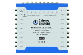 MultiSwitch Cyfrowy Ekspert  Technisat CE 9/16 HD