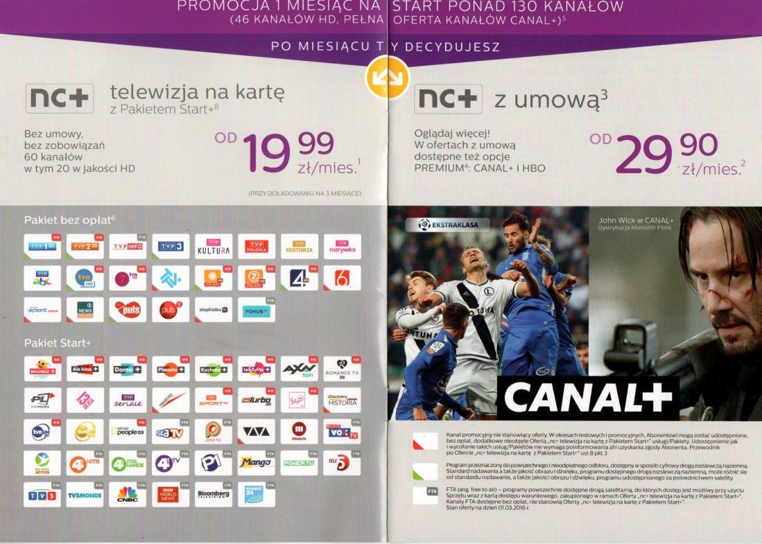 Nc Plus Na Karte.Usluga Nc Telewizja Na Karte Z Pakietem Start 12miesiecy Z