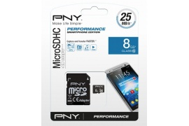 Pamięć PNY MICRO SDHC 8GB Class 10 + adapter SD