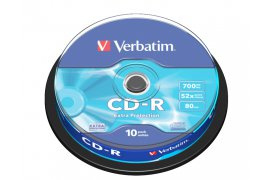 Płyty VERBATIM CD-R 700 MB 52X EXTRA PROTECTION (CAKE 10)