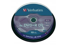 Płyty VERBATIM DVD+R 8,5 GB DOUBLE LAYER 8X (CAKE 10)