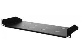 "Półka do szaf Rack 19"" Spacetronik 1U 170mm CZARNA"