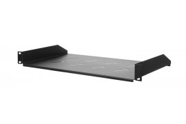 "Półka do szaf Rack 19"" Spacetronik 1U 270mm CZARNA"