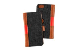 Portfel + etui na telefon MOC Velcro Book Wallet na iPhone 6/7/8 Black