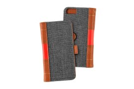 Portfel + etui na telefon MOC Velcro Book Wallet na iPhone 6/7/8 Grey