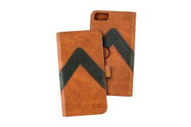Portfel + etui na telefon MOC Velcro m-Leather Wallet na iPhone 6/7/8 Brown