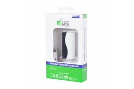 Power Bank M-LIFE z kablem micro USB 2400mAh