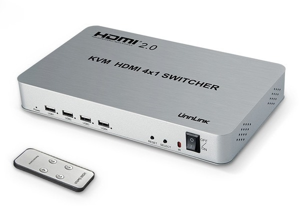 KVM HDMI 4x1 SWITCHER