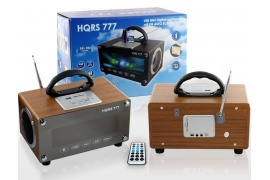 Radio Box & Player HQRS 777 brązowe