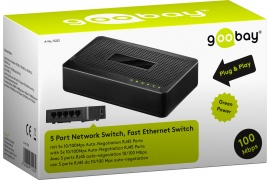 Fast Ethernet Switch 5-portowy Goobay 10/100Mbps
