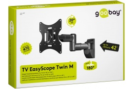 Uchwyt TV EasyScope Twin M Goobay 17\'\'-42\'\'