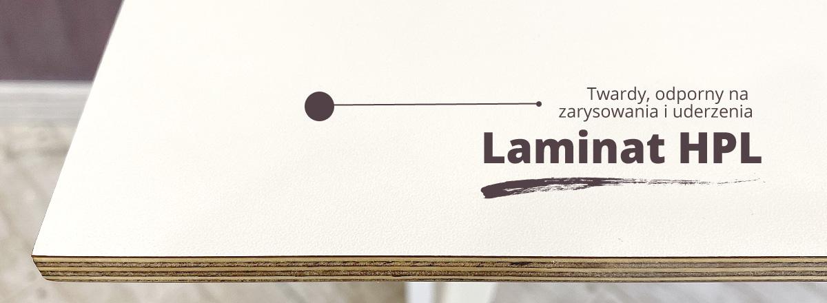 Biały blat laminat HPL