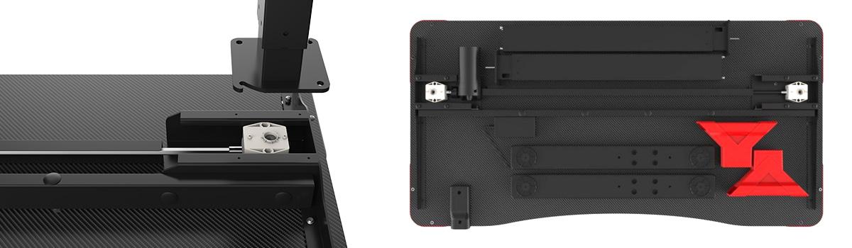 Łatwy montaż biurka gamingowe łatwe w montażu biurko dla graczy
