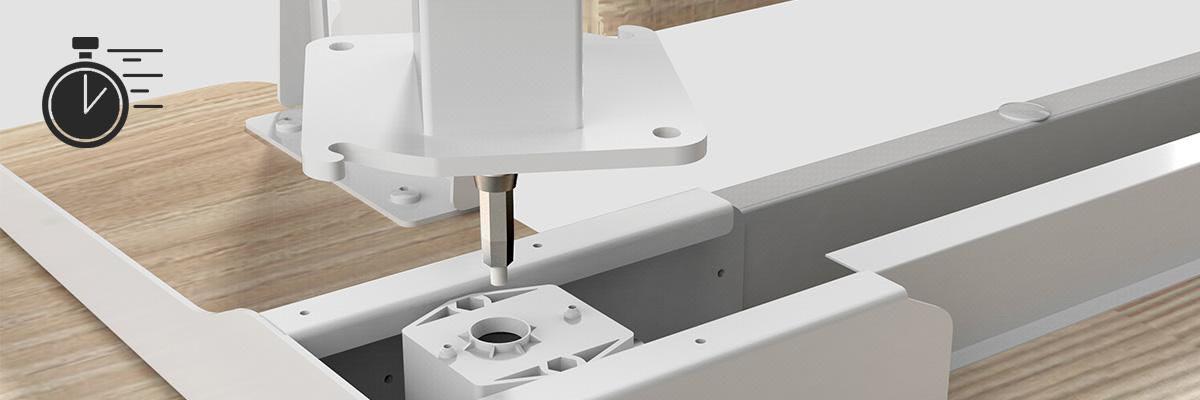 Montaż instalacja biurko elektryczne spacetronik ergoline