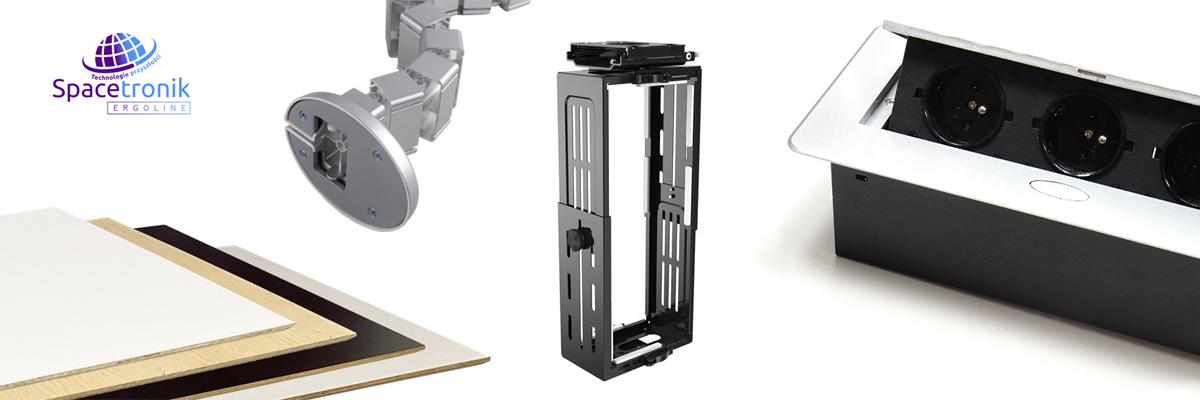 Akcesoria Spacetronik Ergoline uchwyty pc mediaporty blaty podstawki sit-stand
