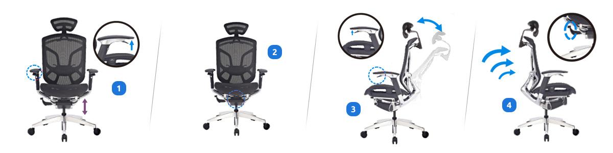 Ustawienia fotela