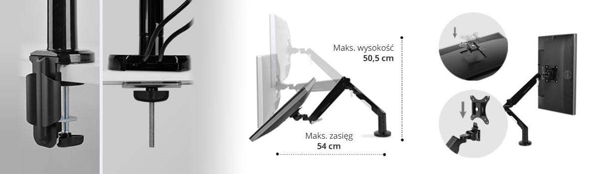 Uchwyt monitorowy ramię do monitora Spacetronik