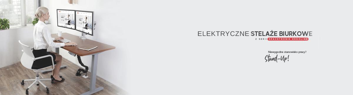 Biurka podnoszone elektrycznie wraz z akcesoriami