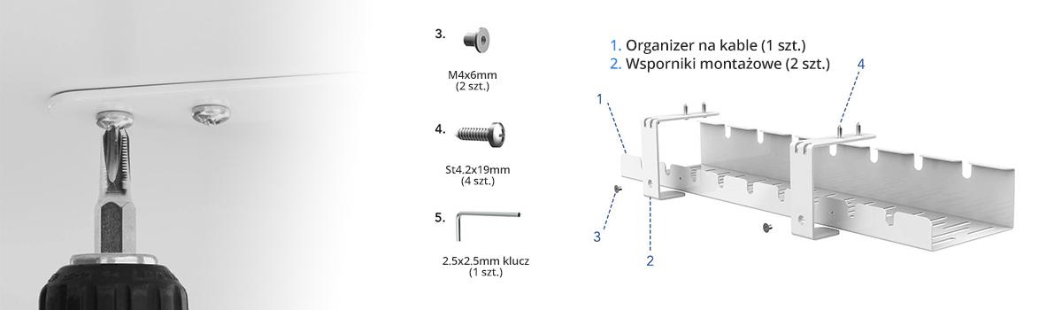 Montaż organizera kablowego