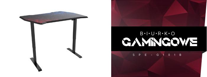 biurko z elektryczną regulacją wysokości dla gracza g101b ergoline spacetronik