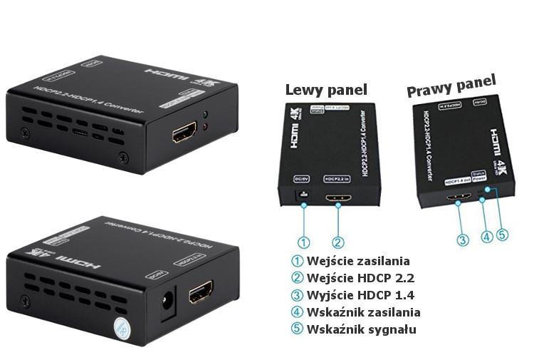 Konwerter HDCP - jak podłączyć?