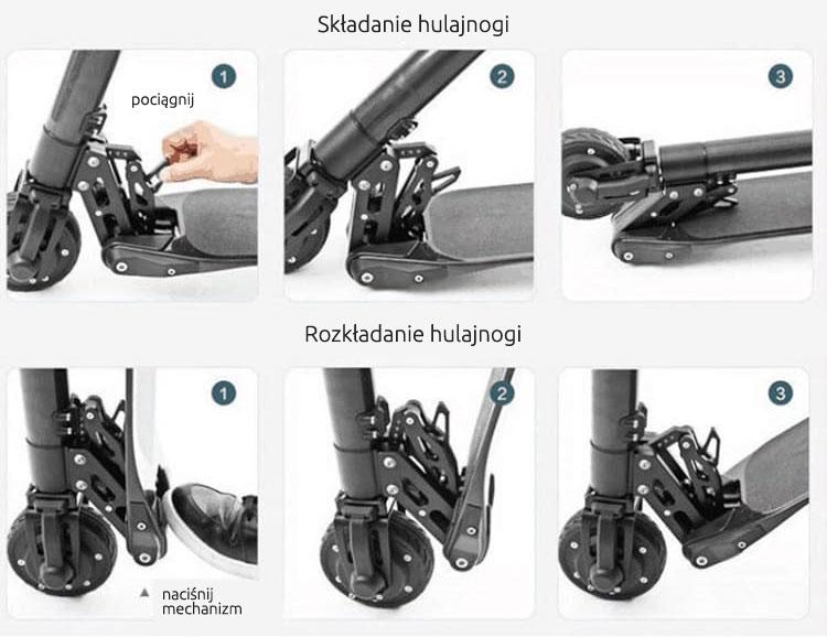 School44 Spacetronik jak rozłożyć jak złożyć hulajnogę