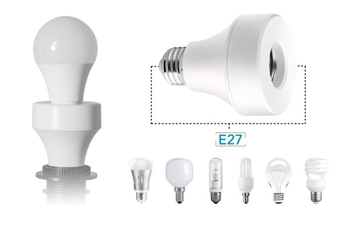 Gwint E27 E26 adapter inteligentna żarówka smart home