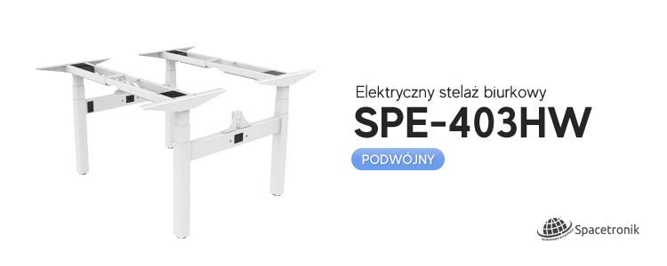 Elektryczny stelaż biurkowy Spacetronik SPE-403HW