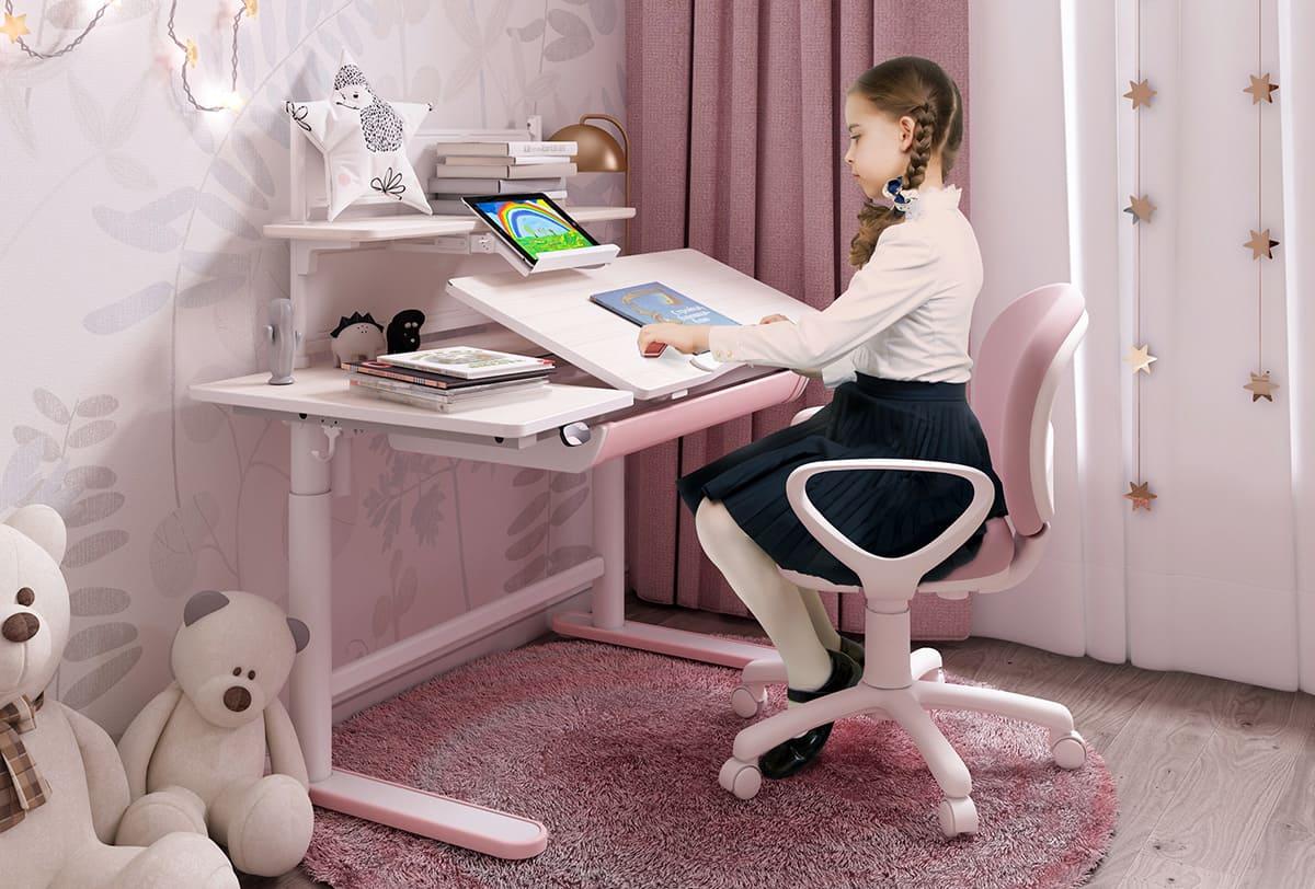 Biurko regulowane dla dziewczynki Spacetronik XD