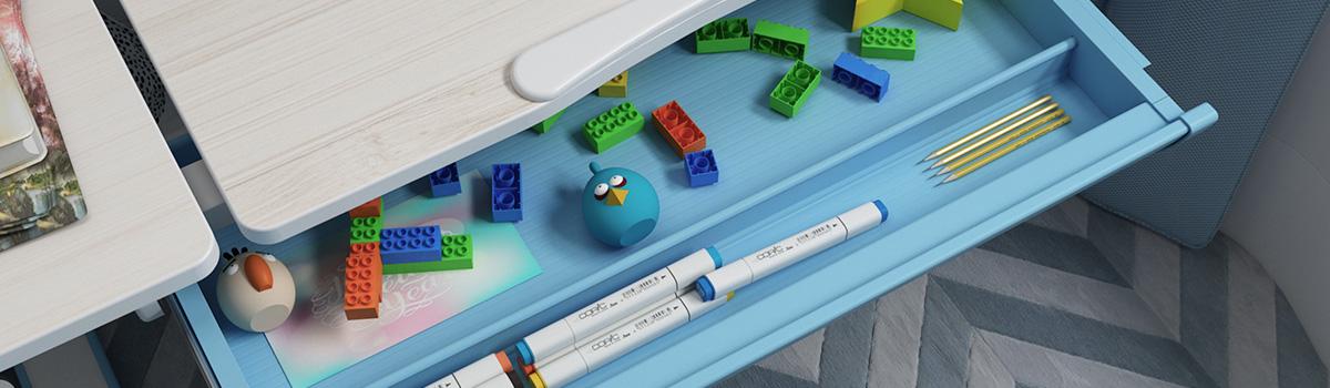 Spacetronik XD pojemna szuflada biurko dla dzieci elektryczne