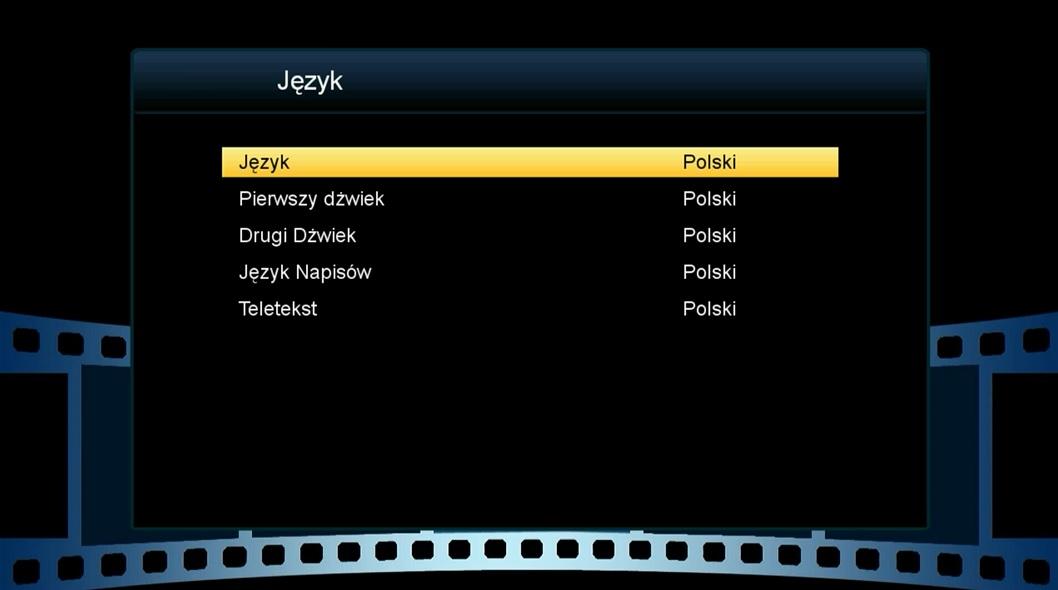menu tunera sharingowego BEST HD75 X322plus